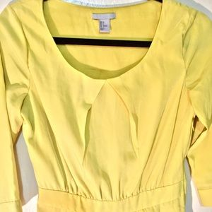 Sweet yellow H&M dress